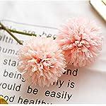 CQURE-Artificial-Flowers-Fake-Flowers-Silk-Plastic-Artificial-Hydrangea-10-Heads-Bridal-Wedding-Bouquet-for-Home-Garden-Party-Wedding-Decoration-10Pcs-Pink-Champagne