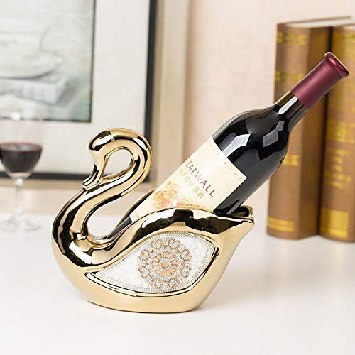 Xin Wine Shelf Wine Racks Ceramics Swan Shape Wine Cabinet Decoration Living Room Kitchen Restaurant Home Practical Wine Rack