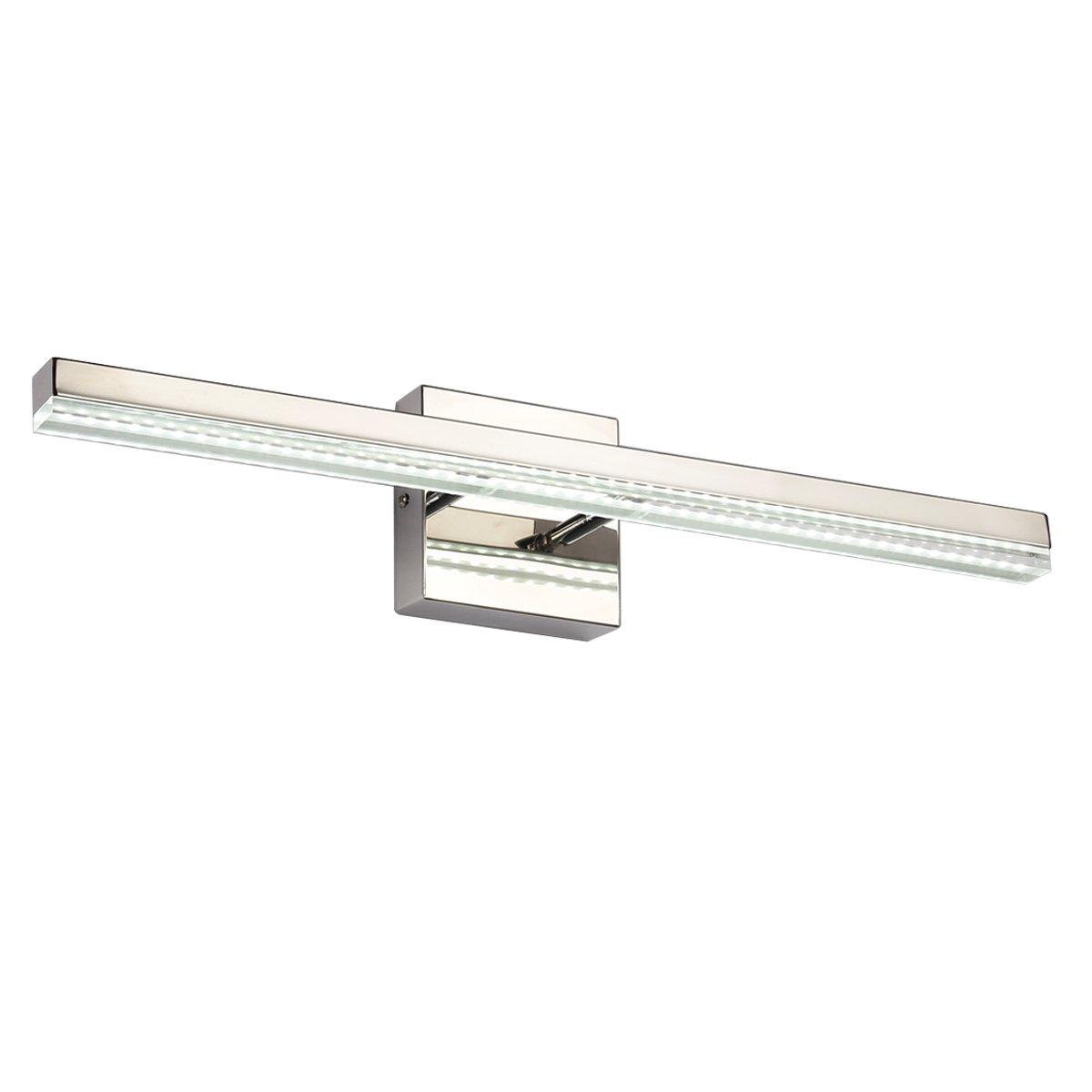 Dailyart 10W Cool White Tube LED Bathroom Light Mirror Light Vanity Light, 3528 SMD, Stainless Steel + Acrylic, IP44