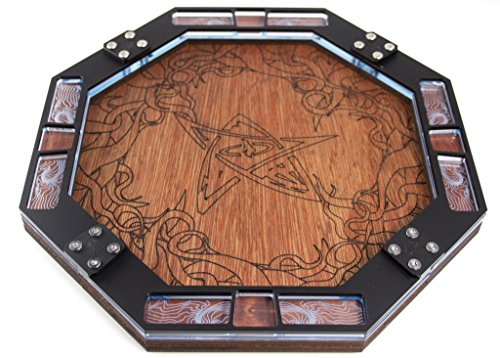 Laser Tray (Dice Tray~Wood with Laser Etched Eldritch for Games, Gaming ~ C4Labs)