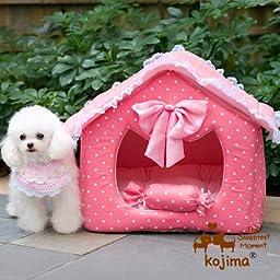 Pink Princess House Pet House, Princess Bedroom (Medium)