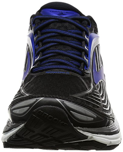 Brooks Transcend 4, Zapatos para Correr para Hombre Negro (Black/electric Brooks Blue/silver)