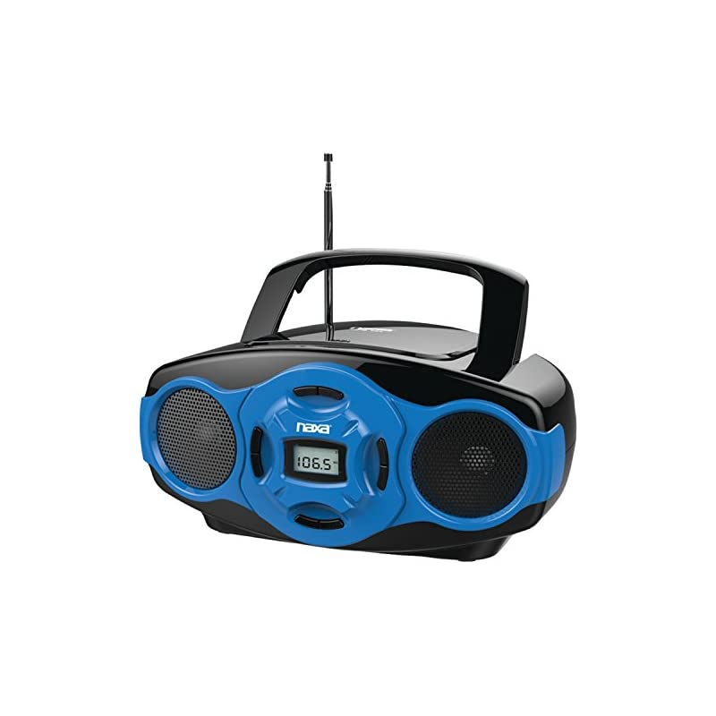 NAXA Electronics Portable MP3/CD Boombox and USB Player (Blue)