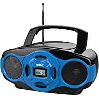 NAXA Electronics Portable MP3/CD Boombox and USB Player (Blue)