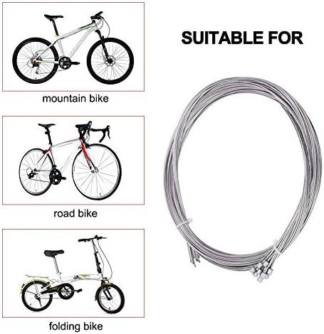 Lote de 10 cables de marchas, 2m, acero inoxidable, cable de palanca de cambios para bicicleta: Amazon.es: Deportes y aire libre