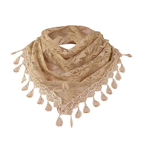 Clearance Sale!❄❄Women Clearance Lace Tassel Rose Floral Hollow Scarf Shawl Lady Wraps Scarves ()