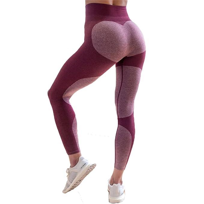 Cheyuan Sport Hosen Kontrastfarbe Nähen Hüfte Liebe Muster Leggings ...