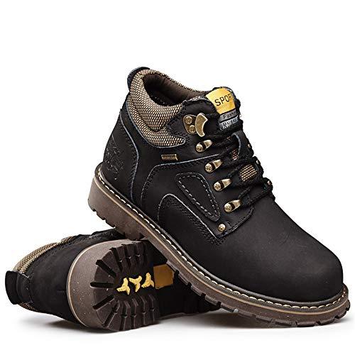 de Hombres EU de 46 cálida de Trabajo Brown Superior Light Tobillo Superior los Superior Color Redonda Suela tamaño Negro Convencional Botas Jusheng Opcional algodón Zapatos de clásica 0tnXqw4tS