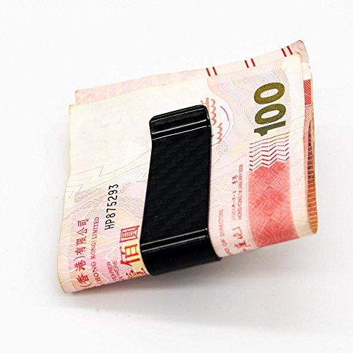 Fibra Cartera Tarjetero De Crédito Soporte Rfid Hombres Bolsillo Para Tarjeta Billetes Pinza Bloqueo Carbono Frente Aolvo wtA8x