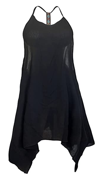 e17e15e31eb eVogues Plus Size Racerback Sleeveless Cover-up Dress Black - 1X at ...