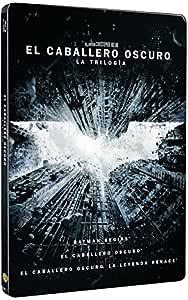 La Trilogía Batman: Batman Begins, El Caballero Oscuro, La Leyenda Renace - 3 Discos Steelbook Blu-Ray Blu-ray: Amazon.es: Christian Bale, Heath Ledger, Tom Hardy, Christopher Nolan, Christian Bale, Heath Ledger, Bob Kane,