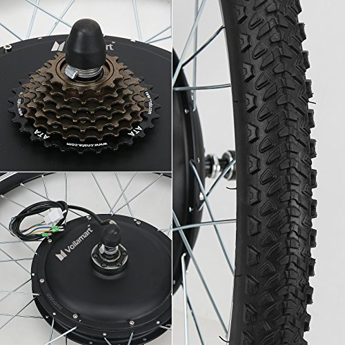 Voilamart 26'' Rear Wheel E-bike Hub 48V 1000W Electric Bicycle Conversion Kit Cycling Brushless Hub Motor w/ Intelligent Dual Mode Controller Restricted to 750W Secret Wire for Road Bike by Voilamart (Image #3)