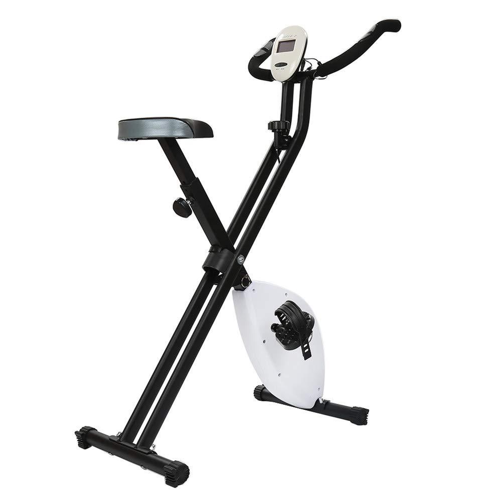 Turefans Fahrradtrainer, Heimtrainer, faltbares Fitnessfahrrad Mit LCD-Display, zeigt Herzfrequenz, Kalorien, Zeit, Geschwindigkeit