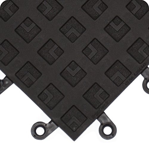 Wearwell 557.78x18x18BK-CS10 ErgoDeck ESD Solid Tile, 18