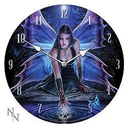 1 X 13.5 Immortal Flight  Anne Stokes Collection Fantasy Goth Angel Art Round Wall Clock