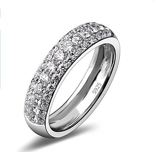 Oceanus Vintage Oval White Gold Filled CZ Diamond Engagement Ring Wedding Band For Women - 037 (7) (Vintage White Gold Wedding Band)