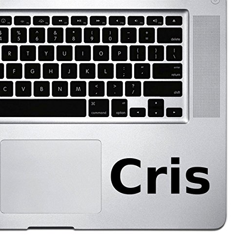 (2x) StickAny Palm Series Cris Sticker for Macbook Pro, Chromebook, and Laptops - Black Cris