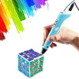 3D Pen,Vcall Upgraded 3D Printing Drawing Pen with LCD Screen for Doodle Model Making Arts and Crafts with 1.75mm Filament,Blue