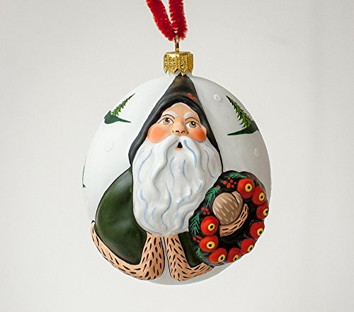 Used, Vaillancourt Folk Art Jingle Balls Green Santa with for sale  Delivered anywhere in USA