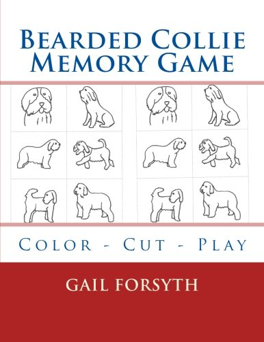 Bearded Collie Memory Game: Color - Cut - Play