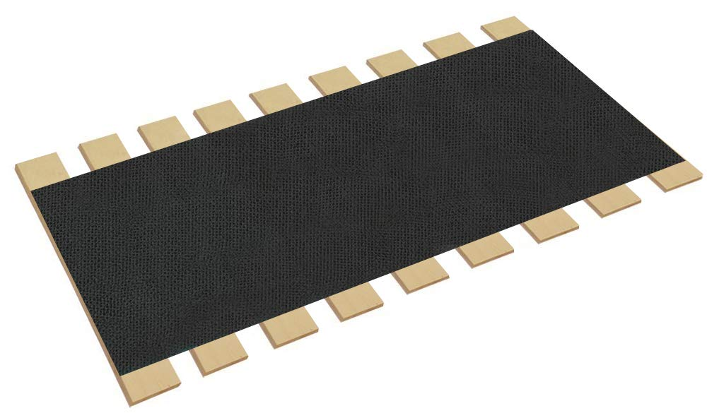 The Furniture Cove Queen Size Bed Slats Boards Wood Foundation with Black Burlap Fabric-Help Support Your Mattress - Made in The U.S.A.! (62'' Wide) by The Furniture Cove