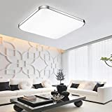 15-inch LED Flush Ceiling Light 24W Square Flush Mount Cool White Lighting Ceiling Down lighting for Kitchen Bedroom Bathroom Dining Room