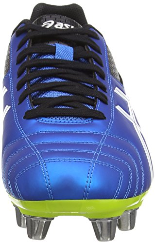 ASICS Lethal Tackle - Zapatillas de rugby para hombre Azul (Electric Blue/White/Flash Yell 3901)