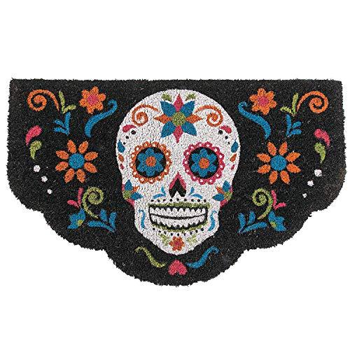 Skull Door Mat (Colorful Day of The Dead Skull Door Mat (Coir with Rubber Backing) Dio de Los Muertos)