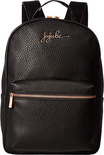 JuJuBe Mini Vegan Leather Backpack, Ever Collection - Noir/Rose Gold