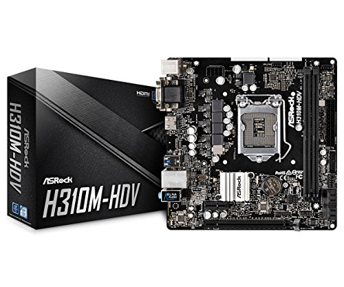 ASRock H310M-HDV LGA1151/Intel H310/DDR4/SATA3&USB3.1/GbE/MicroATX Motherboard by ASRock