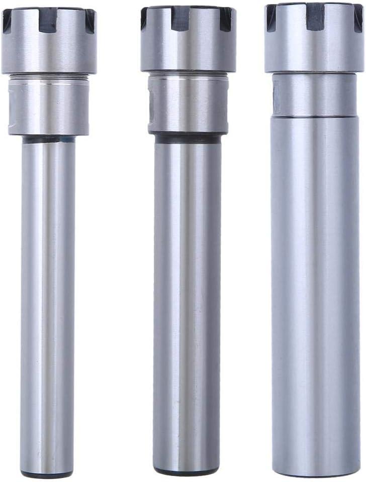 REOUG Collet Chuck Holder Chrome-Molybdenum Alloy Steel Straight Extension Rod ER20M-100L