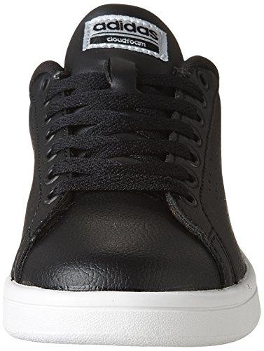 Adidas Women's CF Advantage CL Sneaker, Black/Black/Silver Metallic, 8 M US