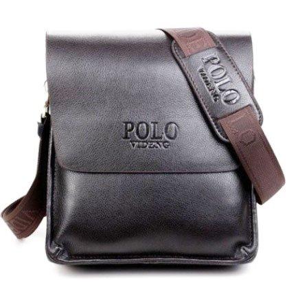 Buy Genric brown 23X26X7cm   2016 new designers POLO VIDENG brand PU  leather black brown quality men s messenger shoulder handbag bags briefcase  VP-1 Online ... 2be89d5cf4ced