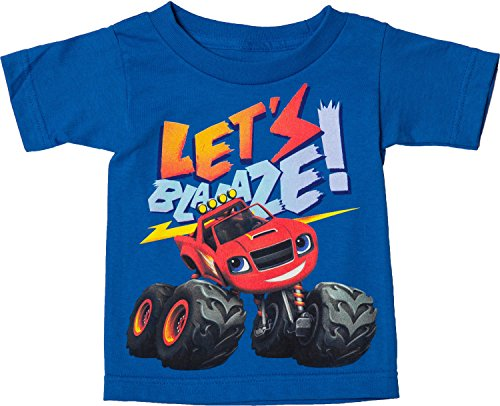 Freeze Little Boys Blaze and the Monster Machines T-Shirt Royal 4