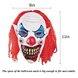 AMYHOMIE Scary Halloween Mask Decorations Cosplay Horror Clown Masks for Kids Adults (Clown-rd)