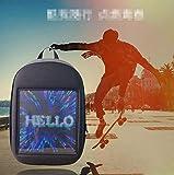 LED ライトバックパックバッグスマート Wifi 広告ナップザック動的ショルダーバッグの広告画面の男の子のための若者の灰色を表示する
