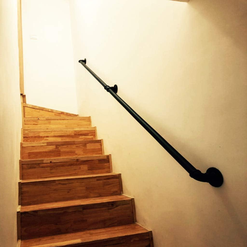 Pasamanos vintage para escaleras exteriores interiores | Pasamanos para discapacitados, ancianos o niños en escalera interior o exterior | Barandilla barandilla Diseño tubería hierro forjado metal n: Amazon.es: Deportes y aire libre