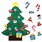Felt Christmas Tree for Kids 3FT + 26pcs Detachable Ornaments, Wall Hanging Xmas Gifts for Christmas Decorations