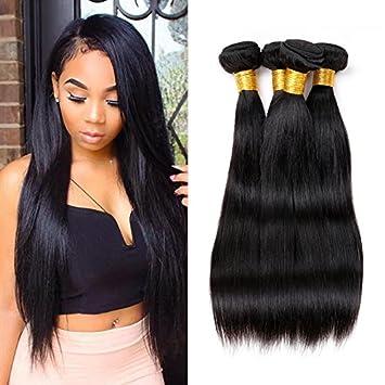 Amazon ziling brazilian hair 3 bundles straight human hair ziling brazilian hair 3 bundles straight human hair extensions unprocessed brazilian straight mixed length 16 pmusecretfo Images