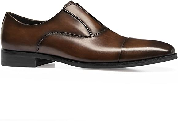 MXL Mens Fashion Oxford Casual Comfortable Slip On Classic Tassel Patent Leather Formal Shoes Dress Shoes