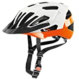 Uvex 2017 Quatro Bicycle Helmet - S41078 (White Matte-Orange - 56-60 cm)