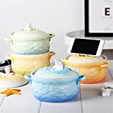 UPSTYLE Microwave Oven Ceramic Soup Bowls 3D Cute