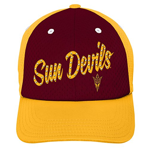 (Gen 2 K N8 474CW 87-1SZ-87-Youth Girls OS NCAA Arizona State Sun Devils Youth Girls Mesh Slouch Hat Maroon, Girls One Size, Multicolor)