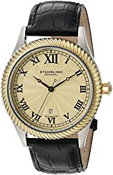 Stuhrling Original Men's 'Symphony' Automatic Stainless Steel and Black Leather Dress Watch (Model: 91C.332G531)