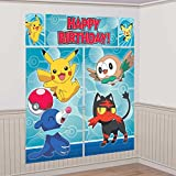 Pokemon Core Pikachu Scene Setter Wall Poster Photo Backdrop 5 piece Amscan 670663 Birthday Party Supplies