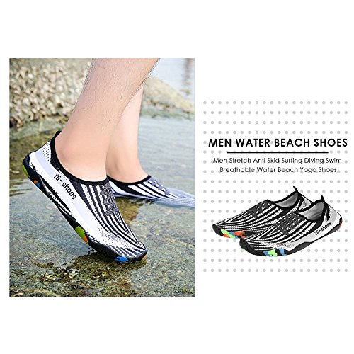 Vanpower Men Stretch Anti Skid Surfing Dive Swim Breathable Water Beach Shoes/41-42 vuNgy