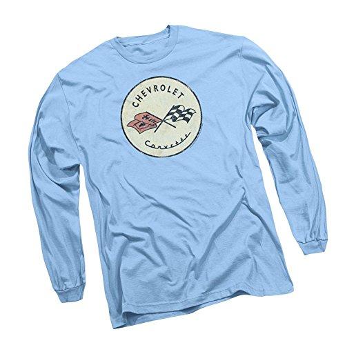 Classic Corvette Logo -- Chevrolet Adult Long-Sleeve T-Shirt, XX-Large Chevrolet Long Sleeve T-shirt