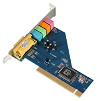 Ocamo 4 Channel 8738 Chip 3D Audio Stereo PCI Sound Card for Win7 64 Bit