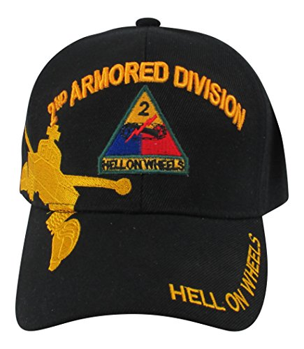 US Warriors U.S. Army 2nd Armored Division Baseball Hat One Size (Division Military Hat)