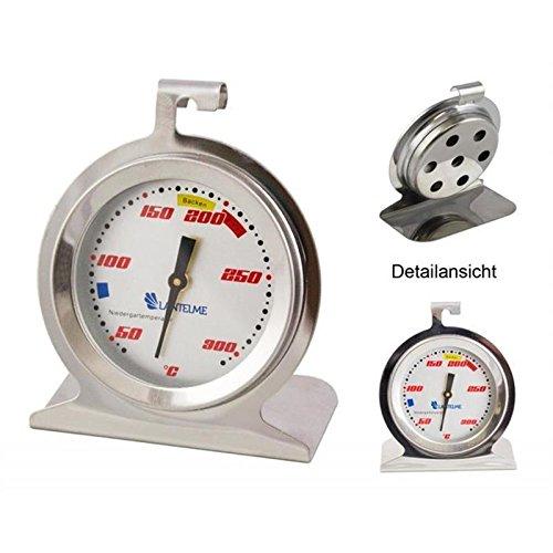 Backofen / Ofen Thermometer . Temperaturanzeige für Niedergartemperatur und Backen . Edelstahl / Analog / Bimetall . Modell Lantelme Racing